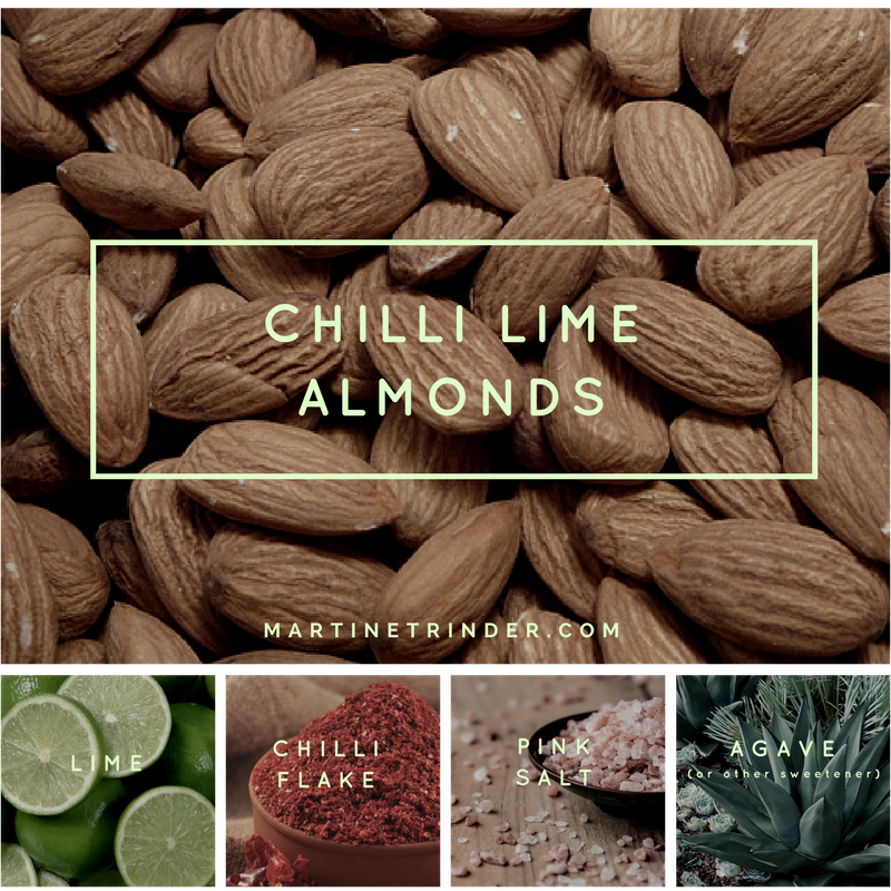 Chilli Lime Almonds | Paleo Raw Vegan