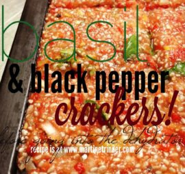 Basil & Black Pepper Crackers