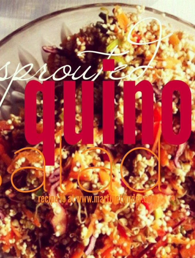 Sprouted Quinoa Salad [grainfree]